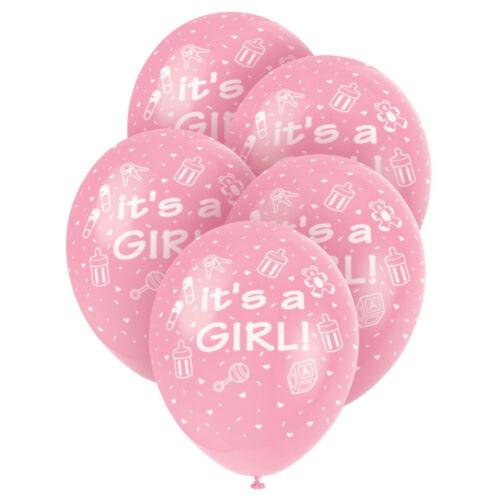 """Bear Baby Shower Ballons 12/"""" Globos Látex Globos bebé niña rosa//Niño Azul"""