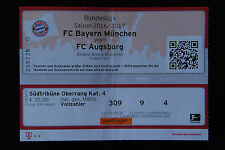 FÜR SAMMLER:Ticket, Karte, FC Bayern München - FC Augsburg, Eintrittskarte
