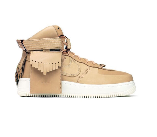 Men's Nike Air Force 1 High Sl All Star 5 Decades of Basketball 919473 200 Tan