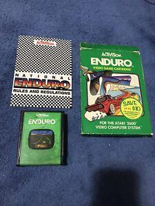 Enduro Atari 2600 Activision CIB Complete Box Manual Tested Working