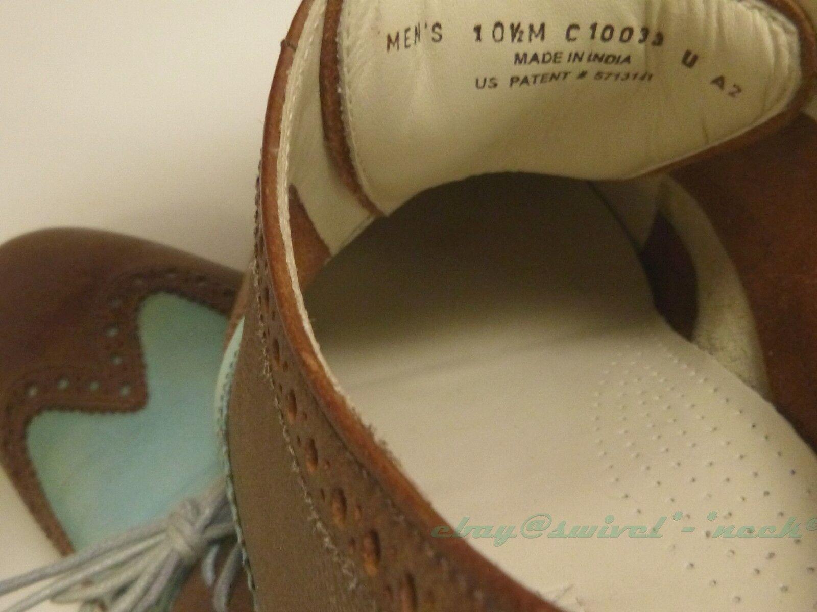 Cole Haan Colton Air Air Air 10.5 D patina Grün leather coffee braun excellent cushion b7c8ce
