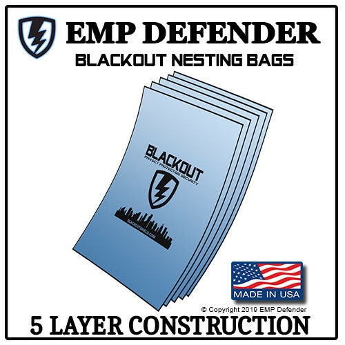 FARADAY CAGE EMP ESD BAGS 3 PC LAPTOP SIZE PREPPER KIT BY EMP DEFENDER