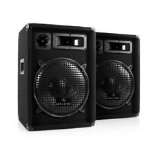 PA Speakers Passive Hi Fi Loudspeakers 3-Way 12 Inch Subwoofer Pair Disco 1200W