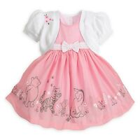 Disney Store Pooh Classic Dress Set With Sweater Diaper Cover For Baby Girl