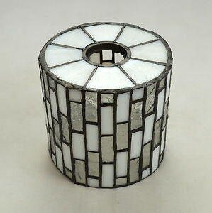 Vtg Leaded Stained Glass Art Deco Small Retro Lamp Shade