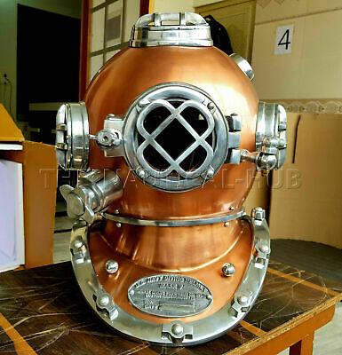 """18/"""" Diving Helmet US Navy Mark V Deep Sea Marine Divers Antique Scuba SEA Divers"""
