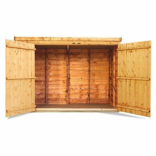 Wooden Bike Shed Storage Garden Bicycle Store Outdoor Tools Patio