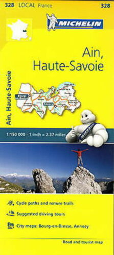 1 of 1 - Michelin Map 328 Ain Haute Savoie France Local Road and Tourist