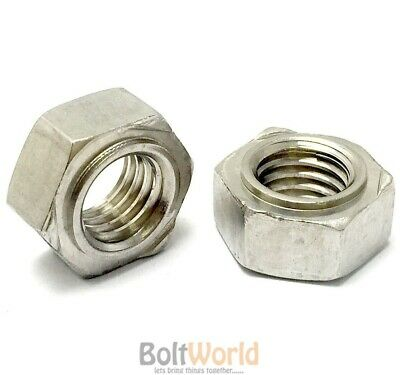 Weld Nut M10 A2 Pack of 10 - Stainless Steel Hex 10mm