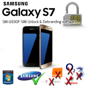 Details about Samsung Galaxy S7 (SM-G930F) SIM Unlock & Debranding Software  (UK Networks Only)
