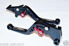 Black Short 6 Position Adjustable Brake Clutch Levers for NINJA 250R / 300R