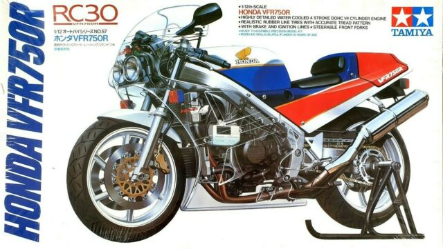 Tamiya 1/12th Honda VFR750R (RC30) [1/12 Motorcycle Series] model kit #14057