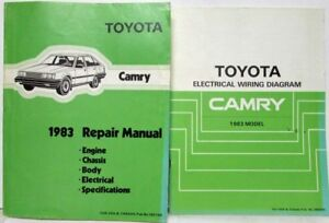 1983 Toyota Camry Service Shop Repair Manual & Electrical ...