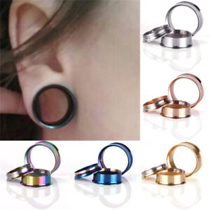 Stainless-Steel-Screw-Ear-Gauges-Flesh-Tunnels-Plugs-Stretchers-Expander-JT
