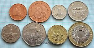 JERSEY-1998-2012-8-COINS-COMPLETE-SET-UNC