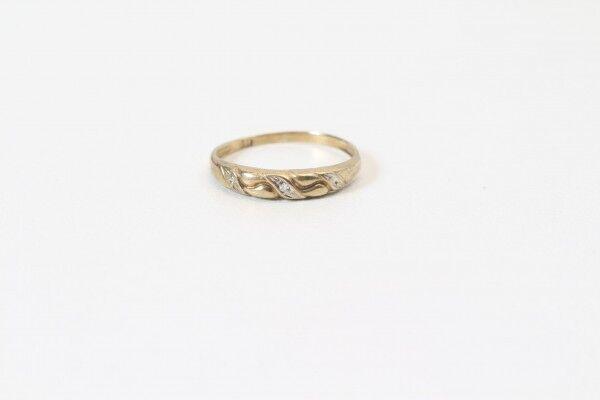 gold Ring Punze 333 Elegant Ring Apart Dude Made 50er to 70er