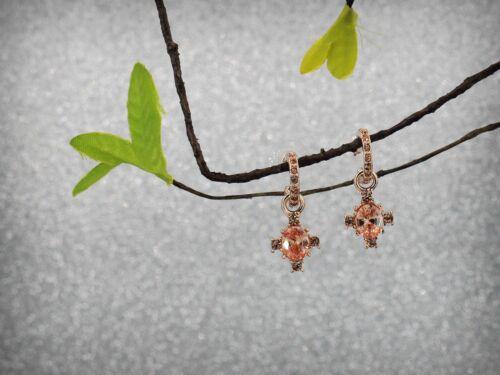 Boucles d/'Oreilles Clous Cristal Doré Zircon Anneaux Super Chic Cadeau AA 9