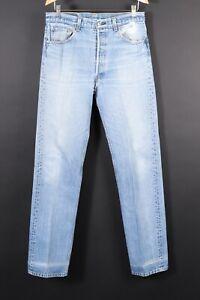 VTG 80s LEVI'S 501 XX Button Fly Denim Jeans USA Mens Size 35x38 Actual (32x36)