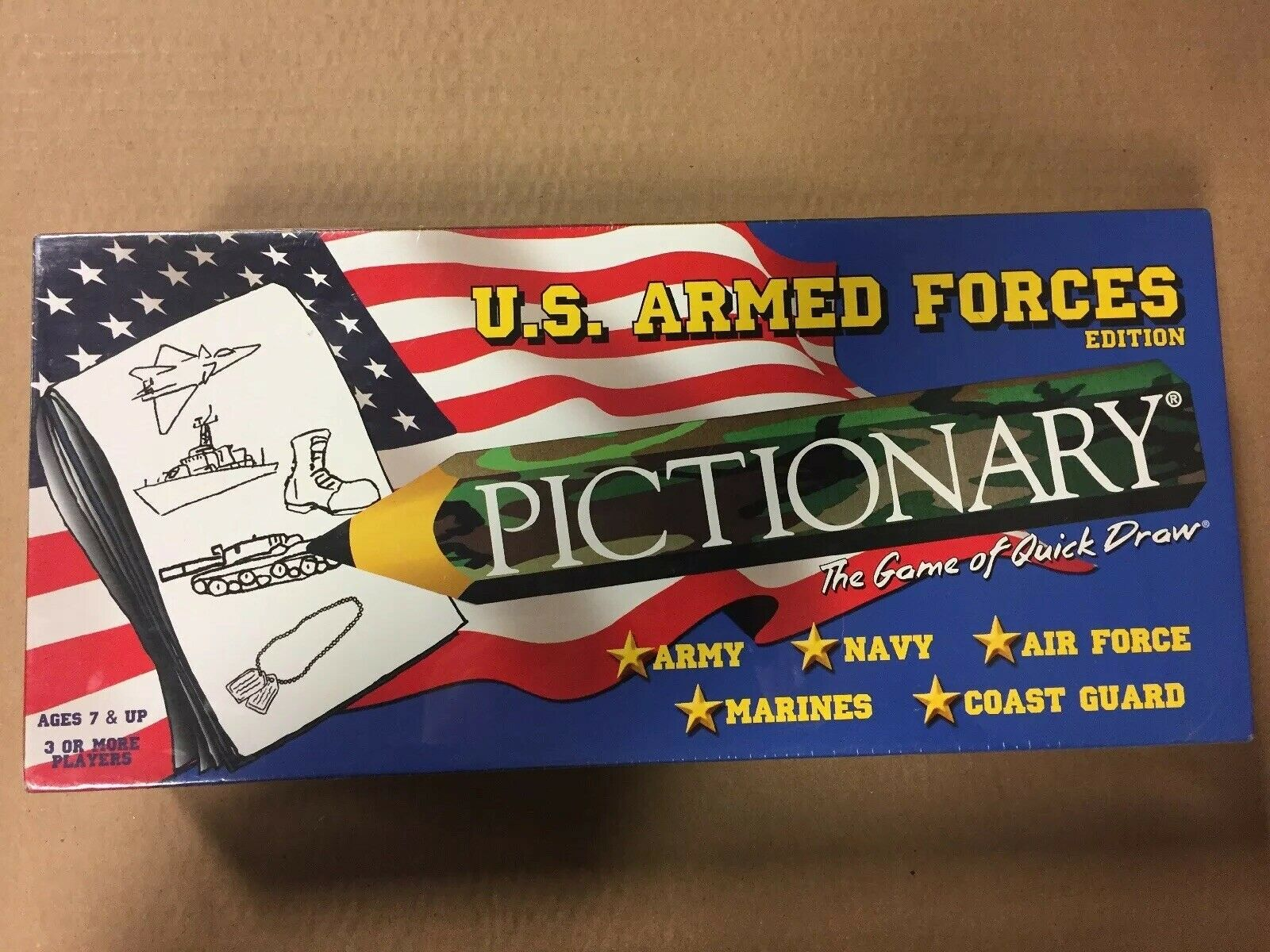 Pictionary Us Armed Forces Edition 2001 Sealed Free Shipping