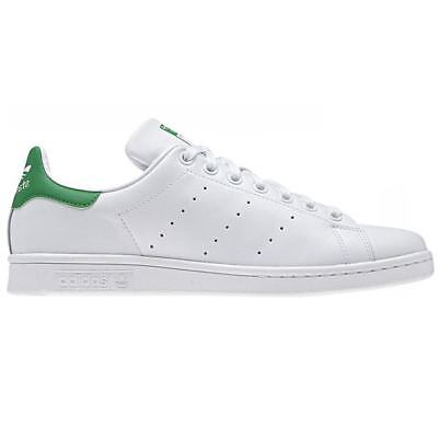 adidas ORIGINALS MEN'S STAN SMITH WHITE GREEN SHOES LEATHER TRAINERS SNEAKERS | eBay