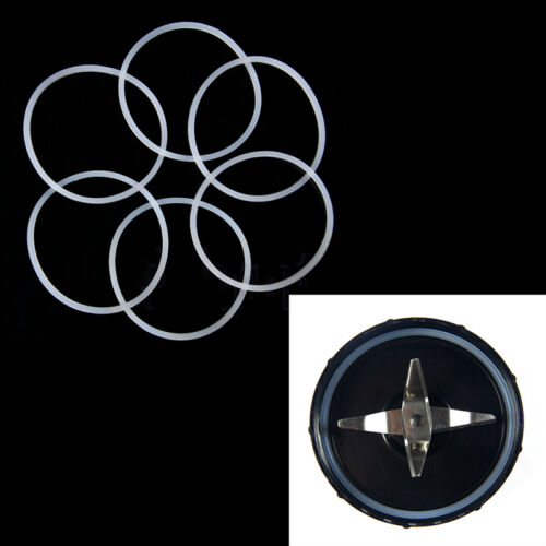 6PCS Ersatz Dichtungen Gummi Dichtringe Magic Bullet Flat //Cross HM Kit