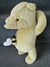 "DISNEY GUND CLASSIC POOH  approx 10"" SOFT TOY, PLUSH, WITH HONEY BEE"