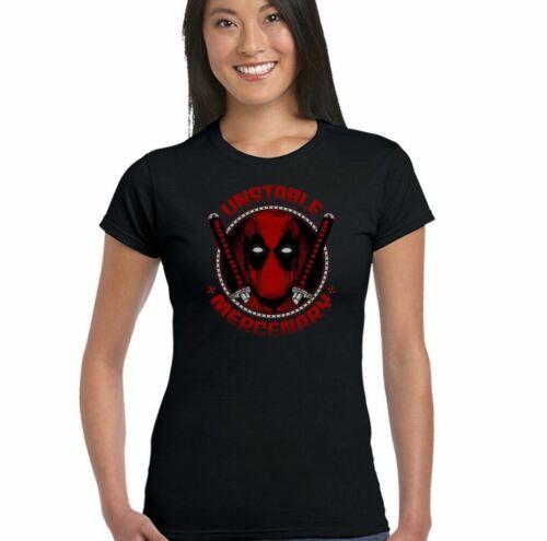 Deadpool Unstable Mercenary Womens Funny Superhero T-Shirt Superman Batman Hero