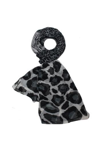 Neuf Animal Imprimé Léopard écharpe Châle Wrap étole en Mousseline de Soie Large Longue lumière douce UK