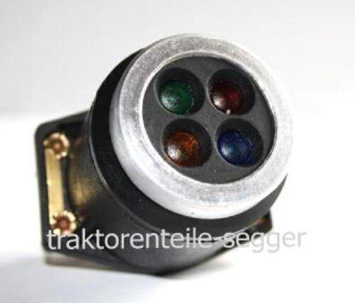 Luz piloto 4 especializada rojo verde azulado amarillo Hanomag tractor remolcador lámpara