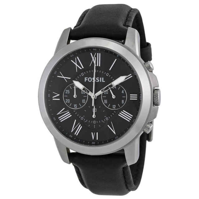 396f0dff79f12 Fossil Men Grant Chronograph Black Leather Watch FS4812IE for sale ...