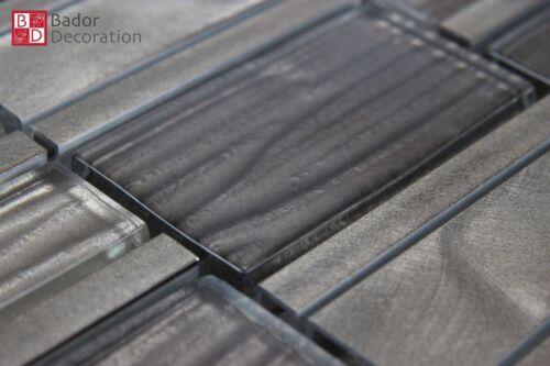 Glasmosaik Aluminium Mosaïque Mosaïque Carrelage glasfliesen Hell-Marron foncé Classic.