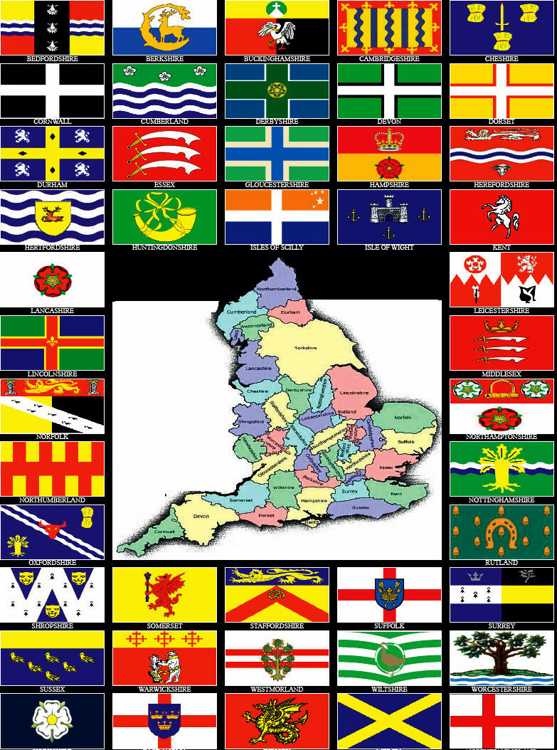 Staffordshire Old Flag 5ft x 3ft 5x3 British English County Counties