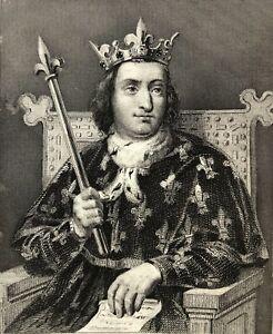 Charles-V-the-Sage-King-de-France-Painted-per-Dejuine-Engraved-Blanchad-F-Print