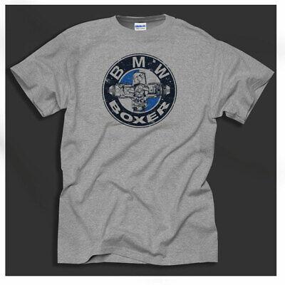 Biker Shirt Motorcycles BSA Triumph Airheads Distressed Print Grey T-Shirt
