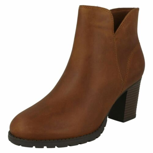 Womens Clarks Zip Up-Ankle Boots Verona Trish