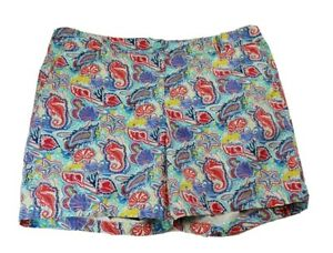 Talbots Womens Size 16 XL Weekend Chino Short Stretch Multicolor Shell Pattern