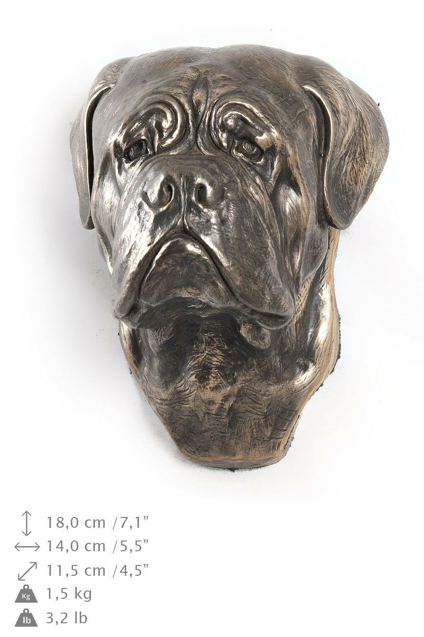 Dog de Bordeaux - dog figurine to hang on the wall, high quality, Art Dog