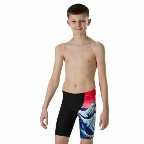 Endurance10 Junior Swimshorts Speedo Boys/' OrigamiWave Jammer Black