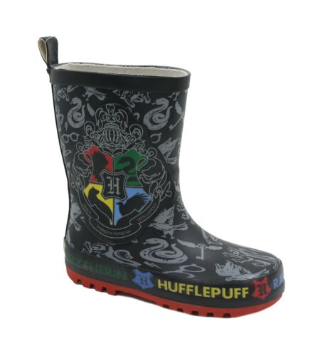 Childs Harry Potter Hogwarts Crest Wellington Boots Kids Wellies Outdoor Shoes