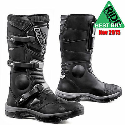 Forma Adventure Leather Motorcycle Boots Black 42