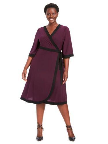 NEW KIYONNA BLACKBERRY WEEKEND WRAP DRESS SIZE 5