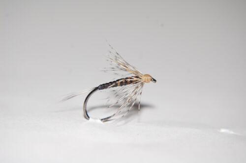 Nassfliegen  je 3 Stück  Spiders Soft Hackles Wet Flies CK