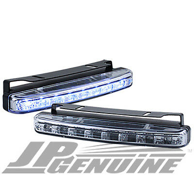 8 LED DAYTIME RUNNING PROJECTOR HEADLIGHTS BUMPER FOG LIGHTS CLEAR - TOYOTA