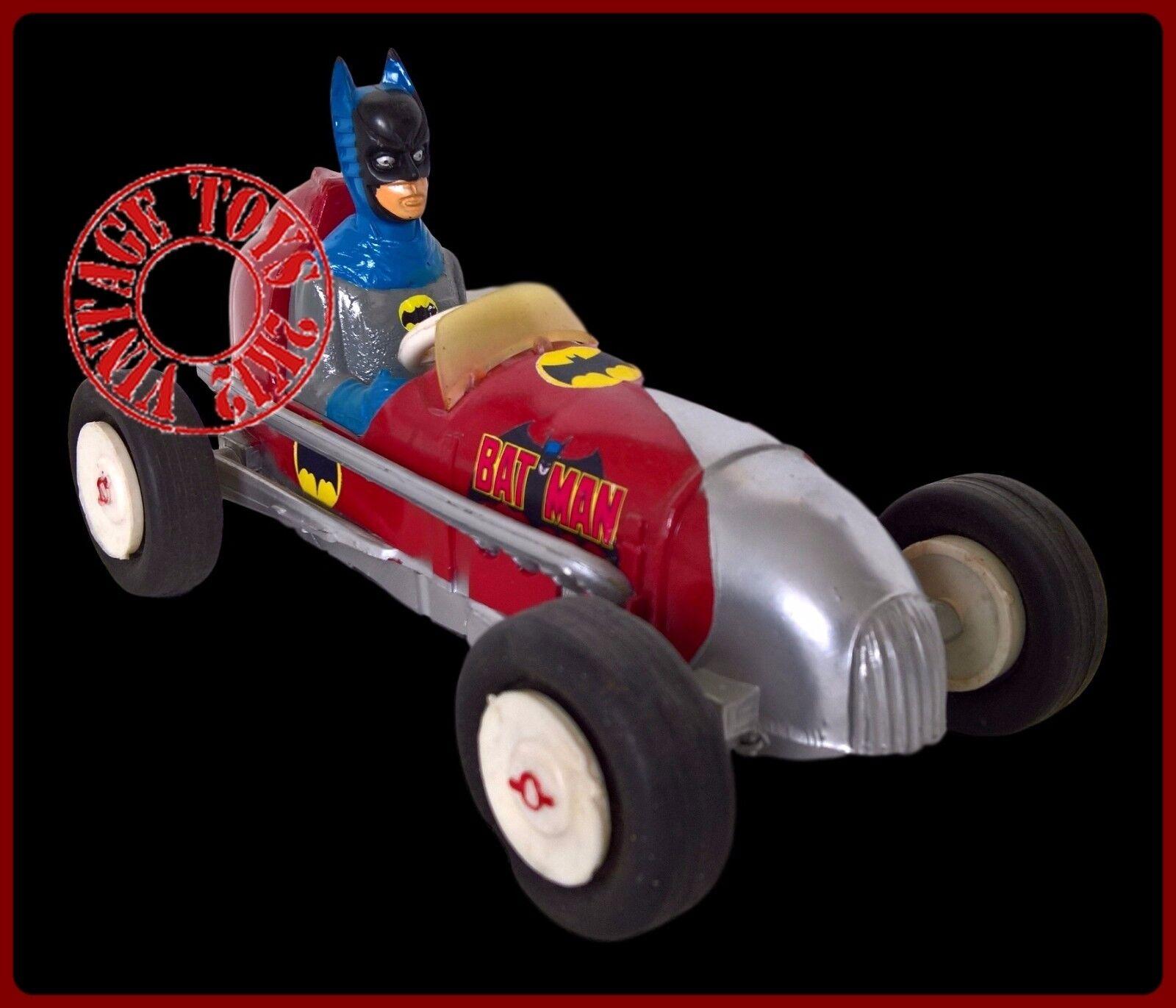 1960 70s Coche De Carreras De Batman hecha en plataina Muy Raro