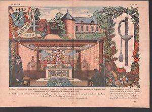 """Epée General Pau Château Beaulieu-les-Fontaines JEANNE D'ARC ILLUSTRATION 1930 n - France - Commentaires du vendeur : """"OCCASION"""" - France"""