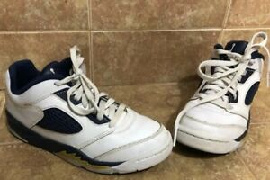 promo code 86294 10cf0 Details about Nike Air Jordan 5 Retro Low GS SZ 13.5c White Gold Dunk From  Above 314339-135