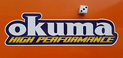 7-10 Year Vinyl Waterproof Decal OKUMA  Fishing Sticker Boat,Tackle Box Vans