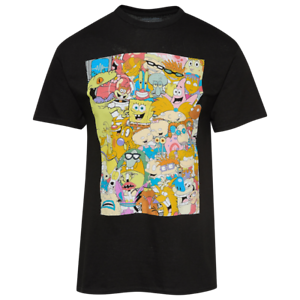 Nickelodeon 80s 90s Classic Cartoon Series Characters Back Print Logo Tee Shirt Ebay