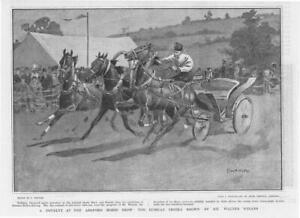 1901Antique-Print-EXHIBITION-Ashford-Horse-Show-Russian-Troika-Winans-118