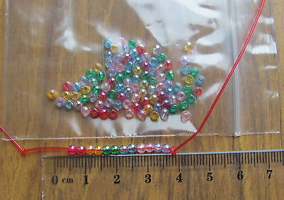 transparent acrylic beads smooth round AB colour mix choose size 3mm 4mm 5mm 6mm